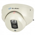 "Xundao LG-DA3048 1/3"" CCD Surveillance Security Dome Camera w/ LED IR Night Vision - White (PAL)"
