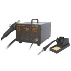 Pro'skit SS-989H 700W 2-in-1 SMD Hot Air Rework Station - Black (220V / H Standard Plug)