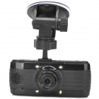 "L3000F 2.7"" TFT 3.0MP CMOS Wide Angle Car DVR Camcorder w/ 4-LED  - Black"