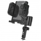 75W USB Car Charger + 360 Degree Rotational Mount Holder for Cell Phone / GPS - Black