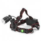 X7 Cree XM-L T6 320lm 3-Mode White Zooming Headlamp - Black + Red (1 / 2 x 18650)