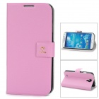 Newtop Fashion Protective PU Leather Flip-Open Case for Samsung Galaxy S4 / i9500 - Pink