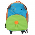SUN-RISING Cute Cartoon Dog Multi-Function Backpack Trolley Schoolbag with Wheels - Multicolored