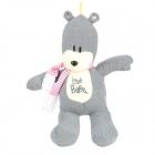Short Floss Cotton BuBu Bear Doll Toy - Grey + Beige