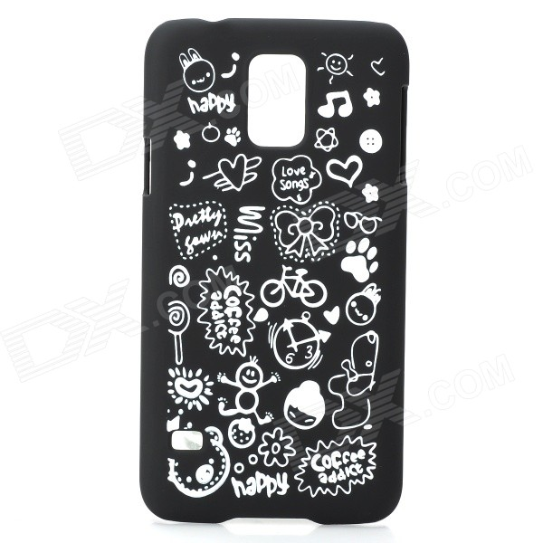 Protective Matte Plastic Case for Samsung Galaxy S4 i9500 - Black