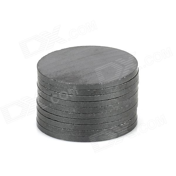 19 x 1.2mm Round Ferrite Magnet - Black (10 PCS)