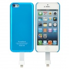 Stylish Practical 2-in-1 2800mAh Portable Li-ion Polymer Power Station for iPhone 5 - Blue + White
