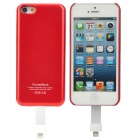 Stylish Practical 2-in-1 2800mAh Portable Li-ion Polymer Power Station for iPhone 5 - Red + White