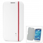 IPSKY Stylish Flip-Open PU + PC Case w/ Card Slots for Samsung i9500 / Galaxy S4 - White + Red