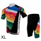 INBIKE Bicycle Cycling Short Sleeves Jersey + Bib Shorts Set - Multicolor (Size-XL)