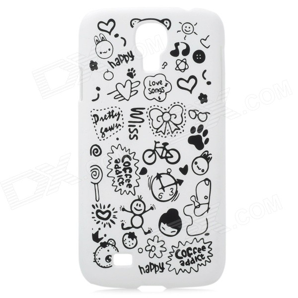 Cute Cartoon Patterns Protective Plastic Back Case for Samsung Galaxy S4 / i9500 protective cute spots pattern back case for samsung galaxy s4 i9500 multicolored