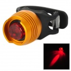 3 -Mode 1- LED Red Light bicicleta Segurança Lamp - Preto + Amarelo (2 x CR2032)