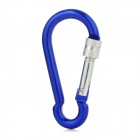 Compact Outdoor Camping Mountaineering Carabiner - Deep Blue + Silver