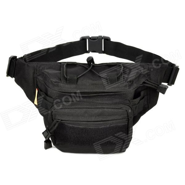 Outdoor Leisure Waist Bag - Black
