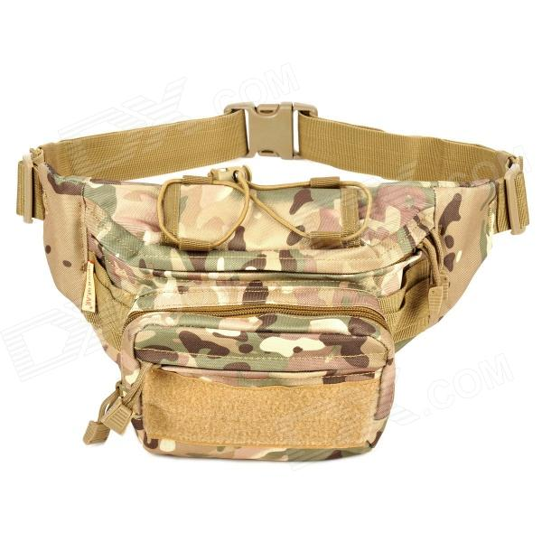 SW3061 Outdoor Sports Casual Nylon Oxford Waist Bag - Camouflage stylish camouflage terylene waist bag