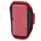 Protective Nylon + PVC Sports Armband w/ Velcro Tape for iLG Optimus G Pro / F240K - Red + Black