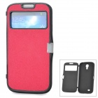 Protective Silicone Flip-Open Case w/ Magnetic Snap for Samsung Galaxy S4 / i9500 - Red + Black