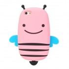 GOMI Cute Cartoon Bee Style Protective Silicone Back Case for Iphone 5 - Pink