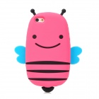 GOMI Cute Cartoon Bee Style Protective Silicone Back Case for Iphone 5 - Deep Pink