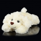 Fragrant Soft Plush Cotton Grovel Dog Doll Toy - White