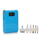 "1.0"" Blue Backlight LCD Dual USB ""12,000mAh"" Mobile Power Bank w/ LED Torch - Blue"