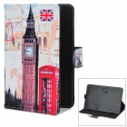 England Famous Scene Pattern PU Case w/ Stand for Lenovo A3000 / Vido Nexus 7 + More - Multicolored