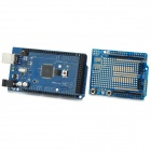 2560 R3 Development Board + ProtoShield V3 Expansion Board w/ Breadboard for Arduino - Blue + Black