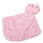 CS0904 Rabbit Style Hanging Chenille + Plush + PP Cotton Wet Hands Cleaning Towel / Cloth - Pink