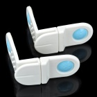 Multifunction Baby Kid Protection Safety Drawer Lock Set - White + Blue (2 PCS)
