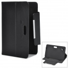 "Protective PU Leather Flip-open Case w/ Stand for 7"" Tablets - Black"