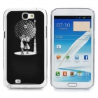 Cute Little Lover Pattern Aluminum Alloy + PC LED Flashing Back Case for Samsung N7100 (1 x CR2016)