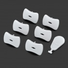 Kaobi Safety Baby / Kid Anti-Shock Insulation ABS 2-Flat-Pin Plugs w/ Key - White (6 PCS)