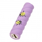 Stick w/ Beetles Style Portable 2200mAh External 18650 Li-ion Battery Charger - Light Purple