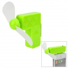 Creative 30-Pin Connector Mini 2-Blade Cooling Fan for iPhone 3G / 3GS / 4 / 4S - Green