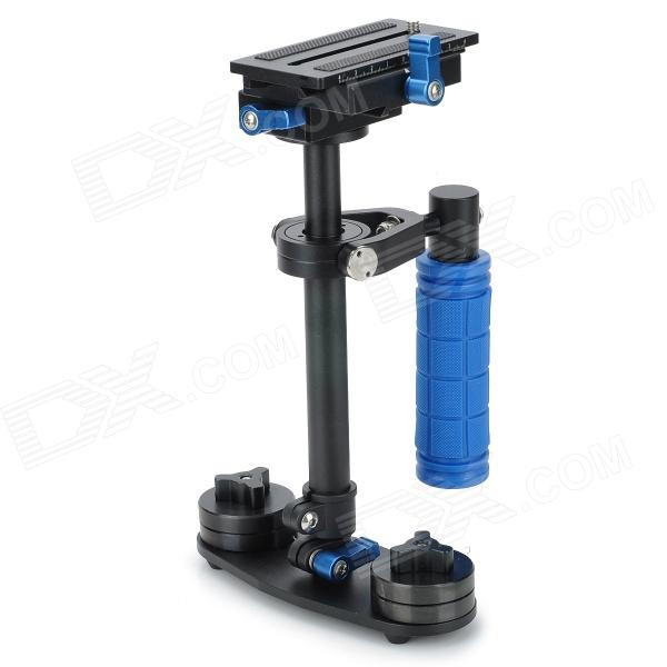 S-40 Handheld Mini Stabilizer for Camcorder DV Video Camera DSLR - Black + Blue