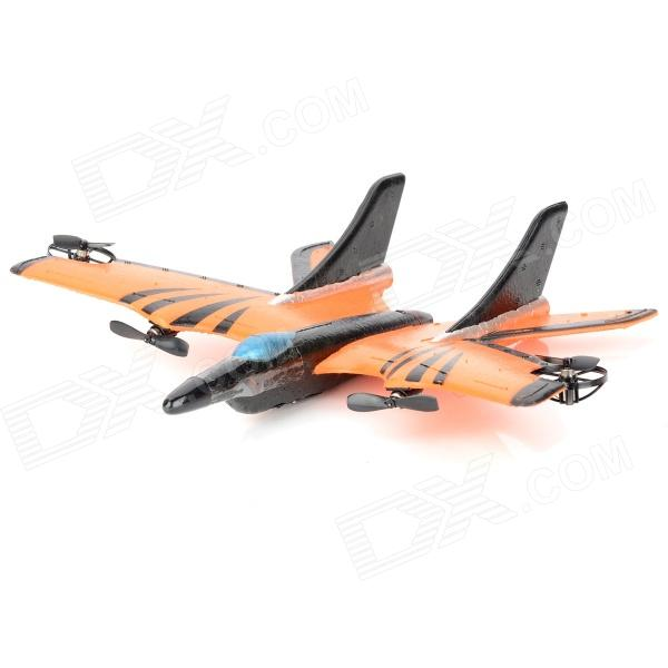9107 EPP Foam Fixed Wing 4-CH Radio Control R/C Aircraft - Orange + Black new large remote control glider fx 806 48 cm up to 250m epp resistance to fall fixed wing wireless rc aircraft plane model toy