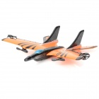 9107 EPP Foam Fixed Wing 4-CH Radio Control R/C Aircraft - Orange + Black