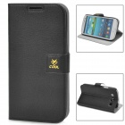 Newtop COOL Protective PU Leather Flip-Open Case for Samsung i9300 - Black