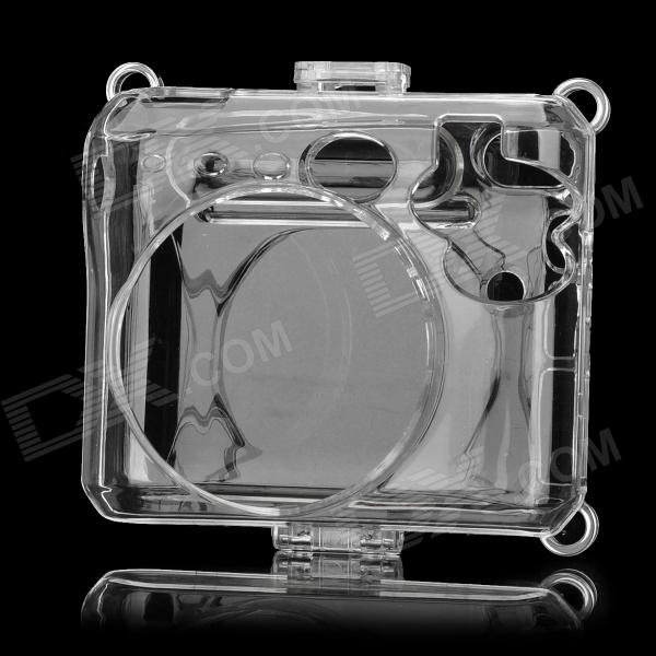 Stylish Plastic Protective Case w/ Carrying Strap for Fuji Mini 50S - Transparent