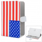 The US. Flag Pattern PU Case w/ Stand for Lenovo A3000 / Vido Nexus 7 + More - Red + White + Blue