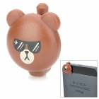 Cool Cartoon Bear Style Audio Jack Anti-Dust Plug for iPhone 5 - Brown + Black (3.5MM Plug)