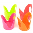 Longstar L-1215 Magnolia Style PP Cup Holders - Orange + Red + Green + Deep Pink (4 PCS)
