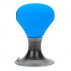 1-to-2 3.5mm Plastic + Aluminum Alloy + Silicone Audio Adapter w/ Suction Cup - Blue + Grey