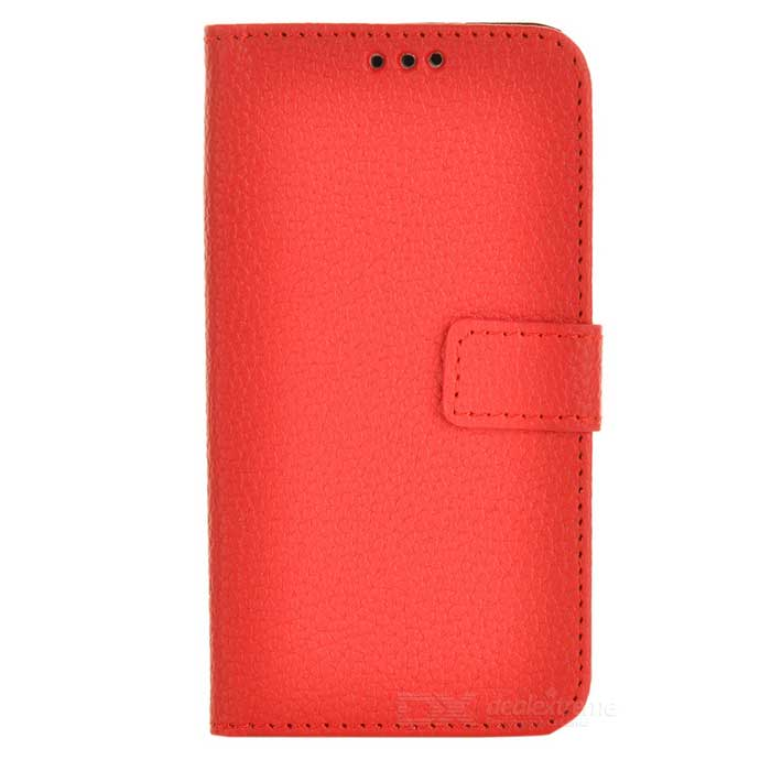 Lichee Pattern Protective Flip-Open PU Leather Case for Samsung Galaxy S4 Mini i9190 - Red alligator pattern protective flip open pu leather case for samsung galaxy s4 mini i9190 white
