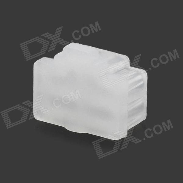 Universal Silicone Anti-dust Plug for Laptops w/ RJ45 Network Line Interface - White