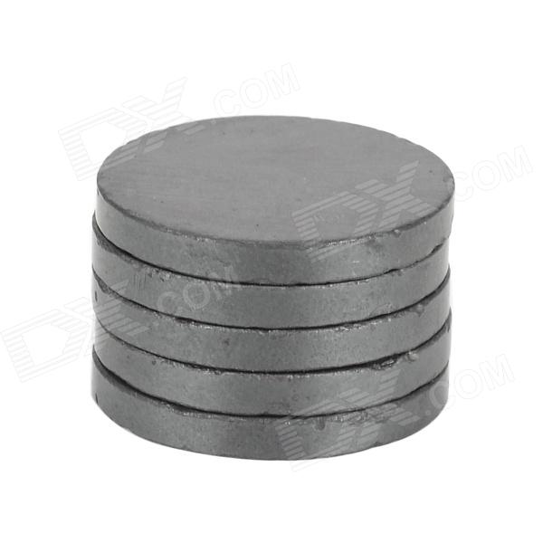22 x 2.7mm Round Ferrite Magnet - Black (5 PCS)