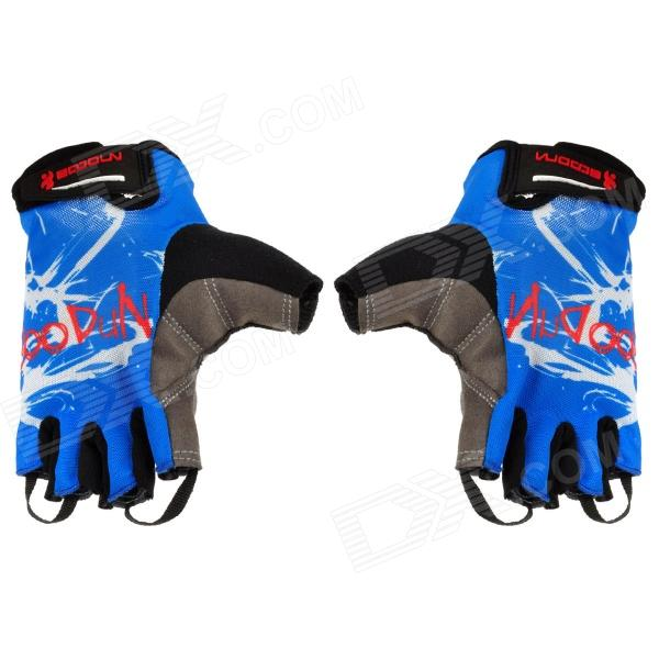 Outdoor Cycling Riding Half Finger Gloves - Blue (Pair/Size-XL) стоимость
