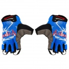 Outdoor Cycling Riding Half Finger Gloves - Blue (Pair/Size-XL)