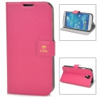 Newtop COOL Protective PU Leather Flip-Open Case for Samsung Galaxy S4 i9500 - Deep Pink