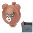 Cartoon Angry Bear Style Audio Jack Anti-Dust Plug for iPhone 5 - Brown (3.5MM Plug)